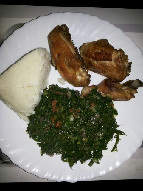 ugali and chicken