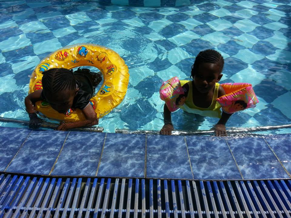 Children of Valley Star enjoying a dip.