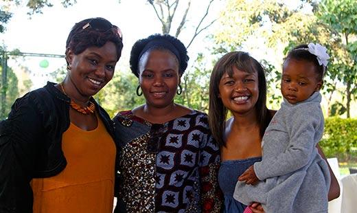 Carol, her sister Joy and friend Diana.