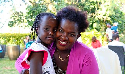 Family friend Kalekye and her daughter Mutanu.