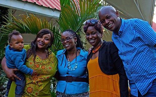 Joy's siblings Purity, Lisa, Carol and Wachira.