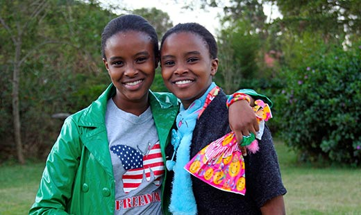 Joy's nieces -adorable twins.