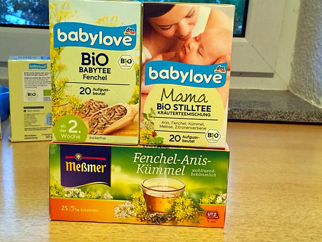 Teas that I drink now that I'm nursing: herbal teas containing Fennel, Anise, Cumin