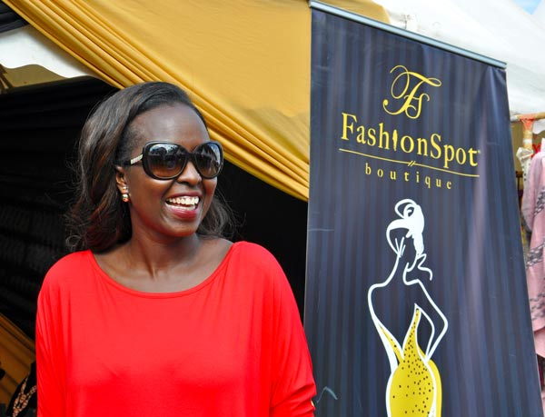 Carol Yebei of Fashion Spot Boutique in Wood Avenue, Kilimani.