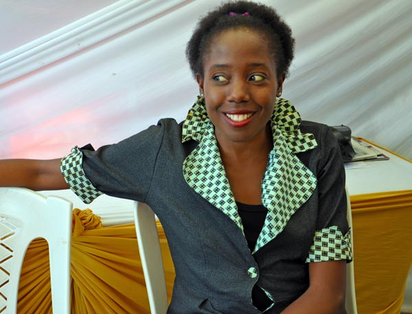 The lovely Juliet Ntalo of Chefammel Designs. I totally love her outfits.