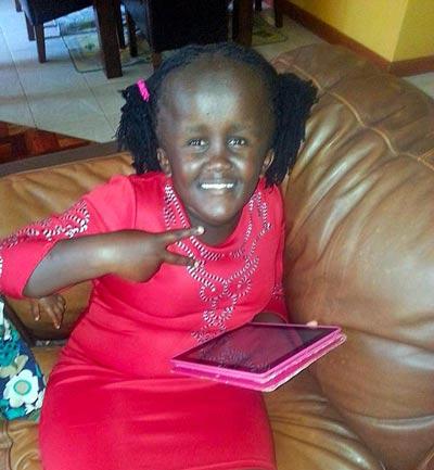 Njambi's 12 year-old daughter Angel.