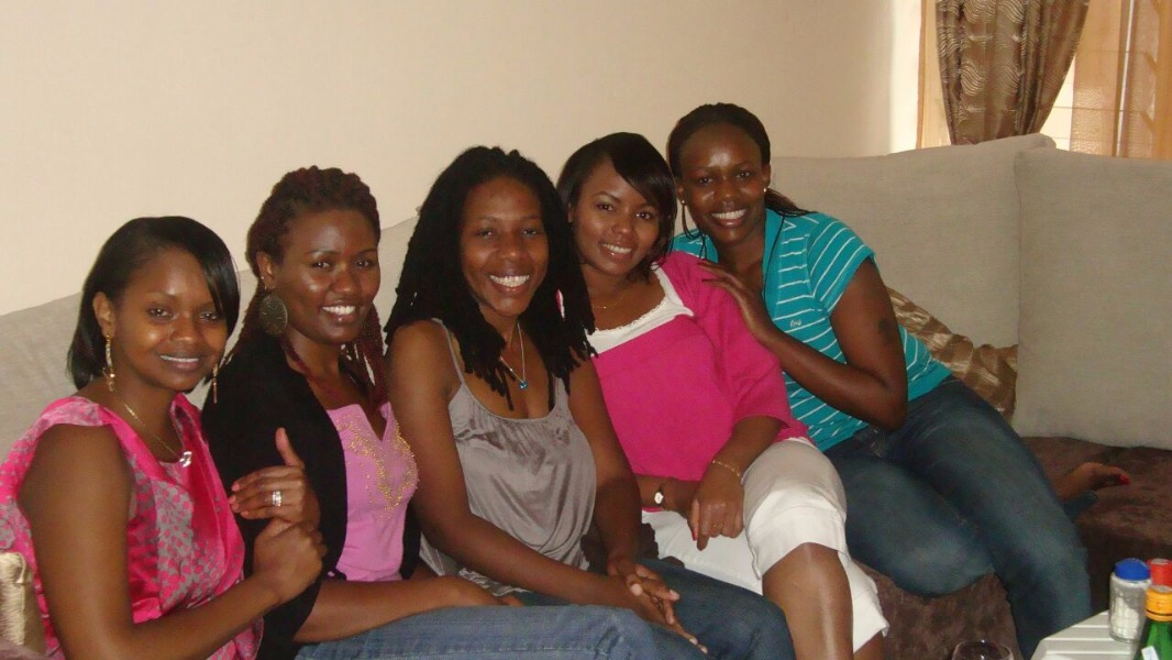 """Faith and her close circle of friends. """"Every girl needs a friend like Faith,"""" Joy (second right) once told me. I agreed."""
