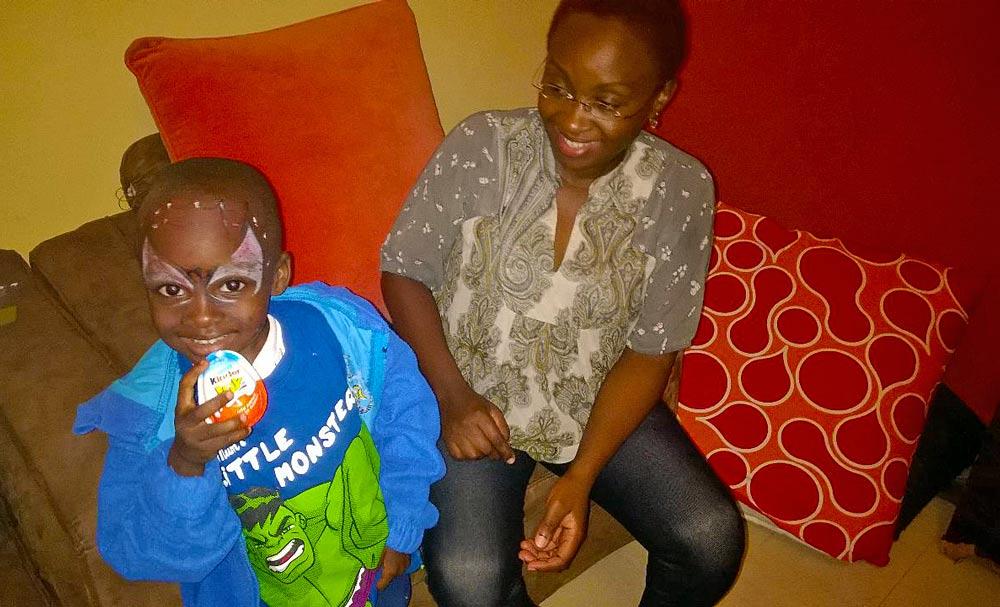 Iddah with her son Ian.