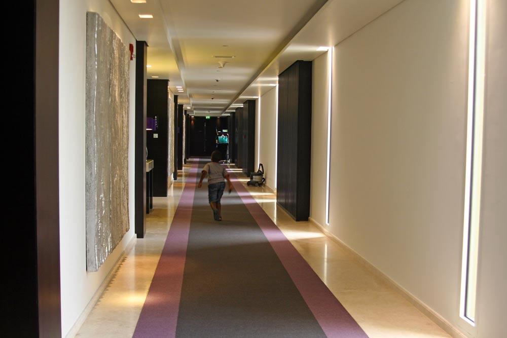 The corridors.
