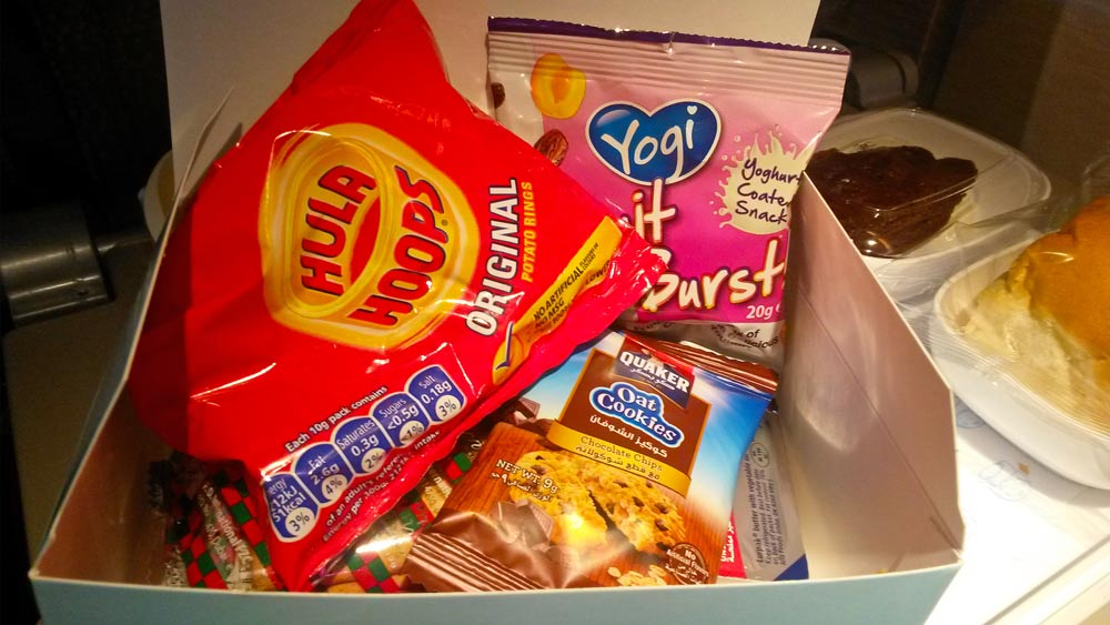 The snacks in Kitty got in the snack box on our flight back to Nairobi.