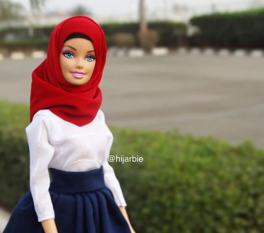 Hijarbie_red white blue