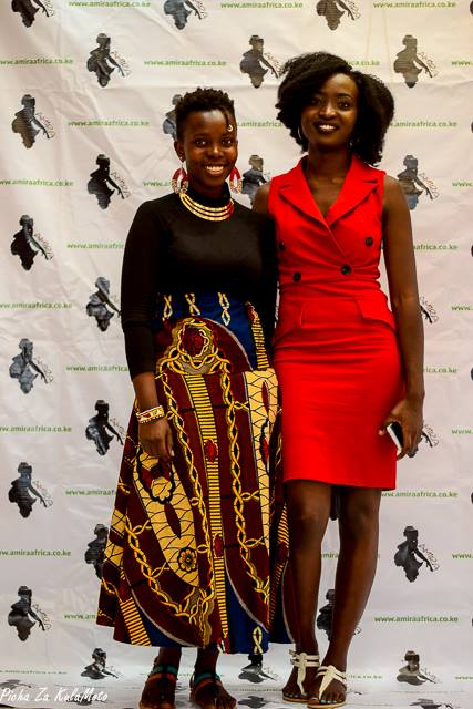 Ann Mitu (left) with Amira Africa founder Fiona Okadia.