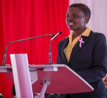 Wanjiru Githuka at a forum raising awareness on cancer.