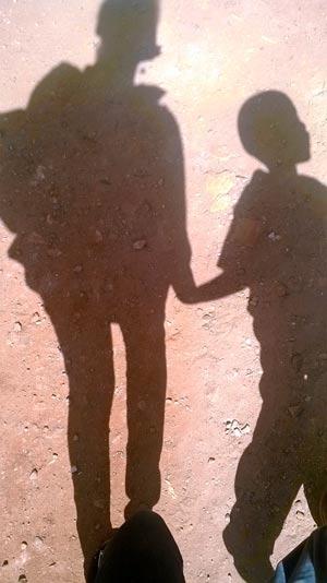 Wairimu with her nephew Safari.